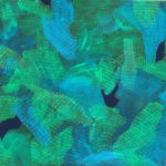 (center part) vigorous life-2017acrylic gouache on canvas 4 x 4 ft.  2016